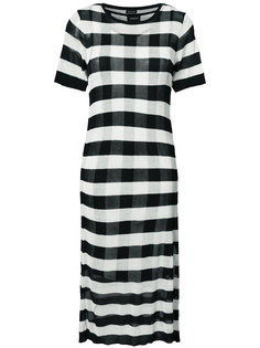 платье в горизонтальную полоску Osklen