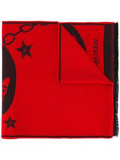 трикотажный шарф с фирменным принтом Alexander McQueen