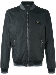классическая куртка-бомбер из овчины Dolce & Gabbana