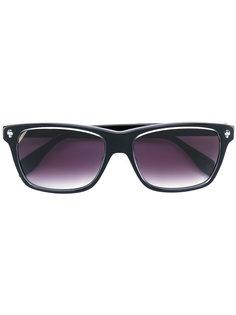 солнцезащитные очки в прямоугольной оправе Alexander McQueen