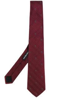 галстук с вышивкой Alexander McQueen