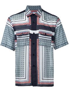 рубашка с короткими рукавами и узором Yoshio Kubo