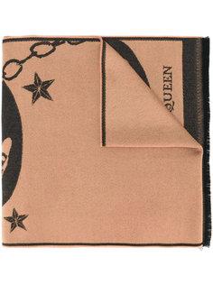 платок с фирменным принтом Alexander McQueen