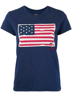 футболка с принтом флага Polo Ralph Lauren