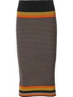 полосатая вязаная юбка Osklen
