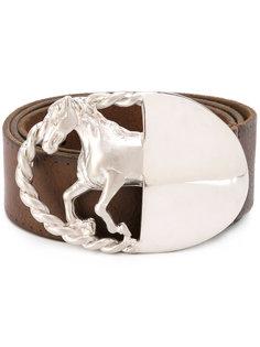 ремень с пряжкой в виде лошади Maison Margiela