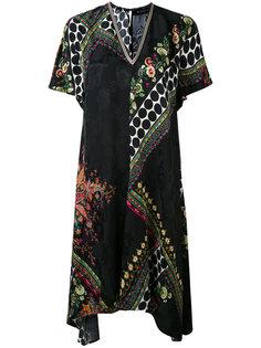 платье с V-образной горловиной и принтом Etro