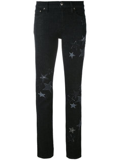 джинсы с нашивками звезд Red Valentino