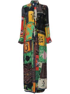 """платье-рубашка с платочным принтом """"пэчворк"""" Osklen"""