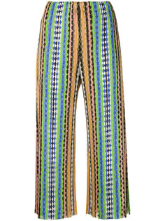 плиссированные брюки с принтом Pleats Please By Issey Miyake
