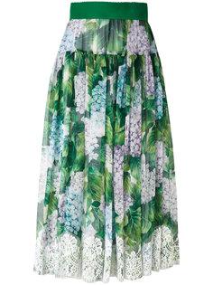 плиссированная юбка с цветочным узором Dolce & Gabbana
