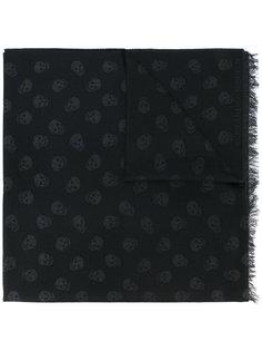 шарф с фирменным принтом Alexander McQueen