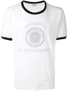футболка с контрастной отделкой Saint Laurent