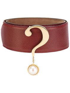 question mark belt Moschino Vintage