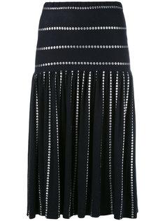 metallic print skirt  Krizia Vintage