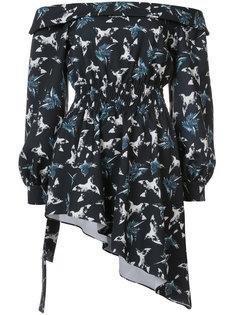 блузка с открытыми плечами Christian Siriano