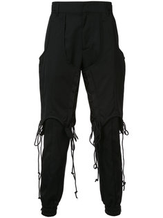 Double Layered Lace-up trousers Juun.J