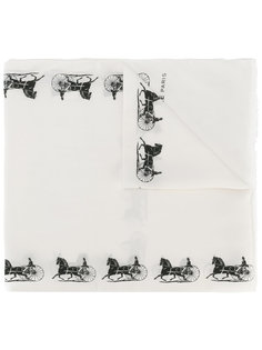 carriage print scarf Céline Vintage