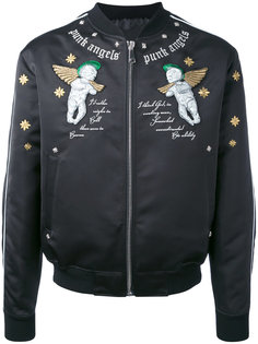 куртка-бомбер с вышивкой John Richmond