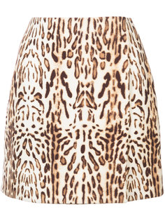 animal print skirt Adam Lippes