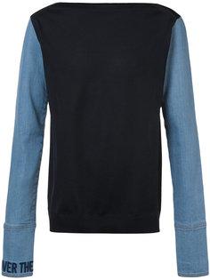 толстовка с джинсовыми рукавами Juun.J