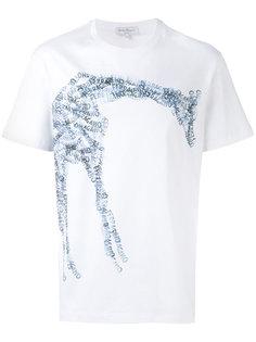 футболка с принтом жирафа Salvatore Ferragamo