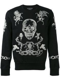 свитер с  вышивкой Alexander McQueen