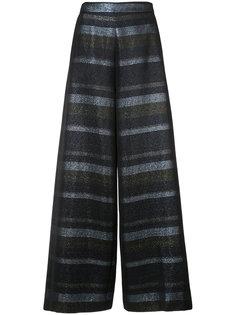 lurex stripe palazzo pants Christian Siriano