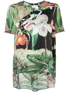 футболка с цветочным принтом Adam Lippes