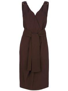 платье с завязкой на поясе Yves Saint Laurent Vintage