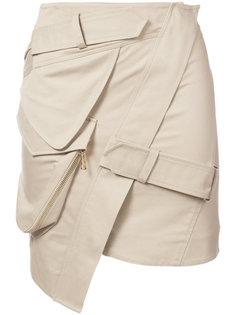 асимметричная мини юбка Alexandre Vauthier