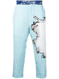 брюки с эффектом размытой краски Haider Ackermann