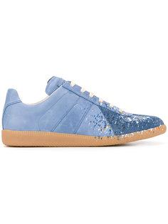 кроссовки с брызгами краски Maison Margiela