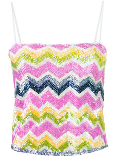 zig zag sequinned tank top Missoni Vintage