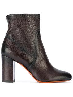 ботинки по щиколотку на массивном каблуке Santoni