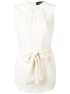 блузка с завязками на талии Dsquared2