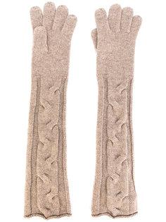 длинные трикотажные перчатки Loro Piana
