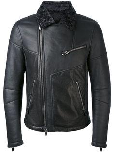 байкерская куртка с контрастным воротником Drome