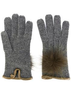 трикотажные перчатки с помпоном Loro Piana