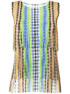 fringed top  Pleats Please By Issey Miyake