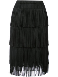fringed pencil skirt Pleats Please By Issey Miyake