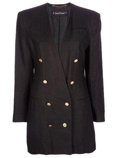 двубортный удлинённый пиджак Louis Feraud Vintage