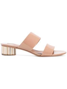 сандалии на контрастном каблуке Salvatore Ferragamo