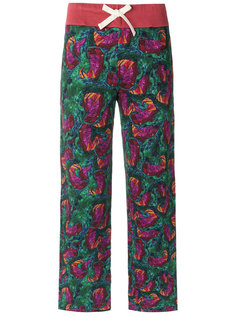 printed straight leg trousers Isolda