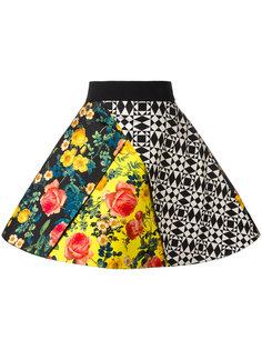 пышная юбка с комбинированным принтом Fausto Puglisi