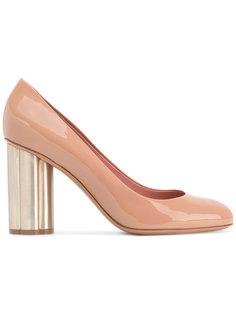 туфли на контрастном каблуке Salvatore Ferragamo