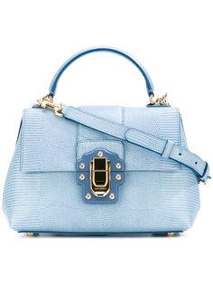 сумка с эффектом змеиной кожи Lucia Dolce & Gabbana