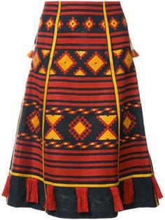 Croatia embroidered midi skirt Vita Kin