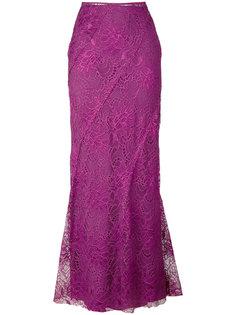 длинная кружевная юбка Alberta Ferretti
