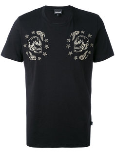 футболка с принтом черепов Just Cavalli